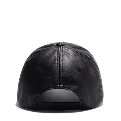 Dark Knight Leather Baseball Cap - Vincere