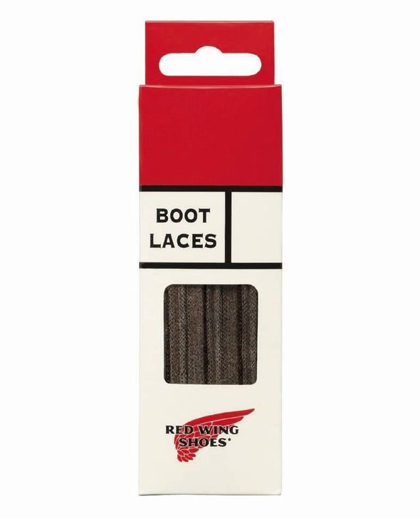 97138 Brown Flat Waxed Laces 48 Inch-122cm