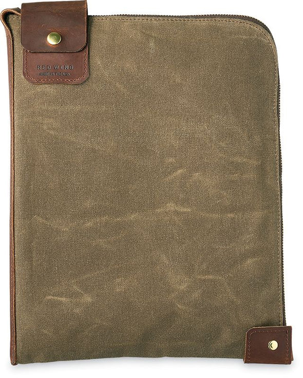 95066 Large Weekender Gear Pouch Copper Rough & Tough Leather/Tan Waxed Canvas
