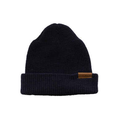 97490 Merino Wool Knit Hat Navy