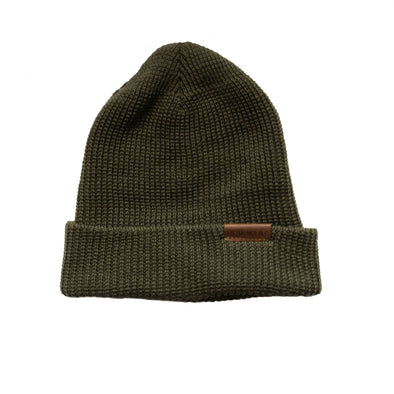 97491 Merino Wool Knit Hat Olive