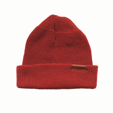 97493 Merino Wool Knit Hat Red