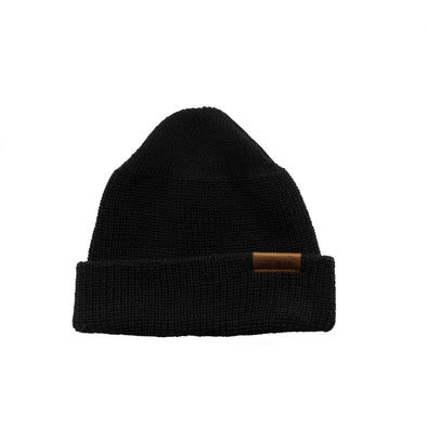 97492 Merino Wool Knit Hat Black