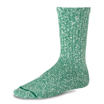 97245 Cotton Ragg Crew Sock Green/White
