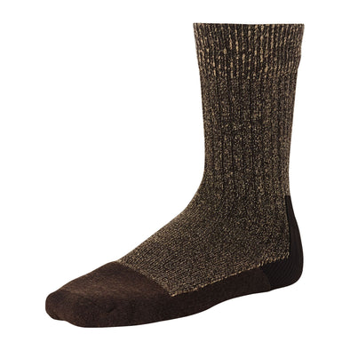 97173 Deep Toe Capped Sock Brown