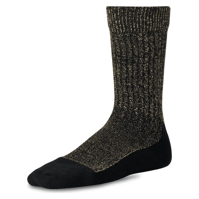 97177 Deep Toe Capped Sock Black