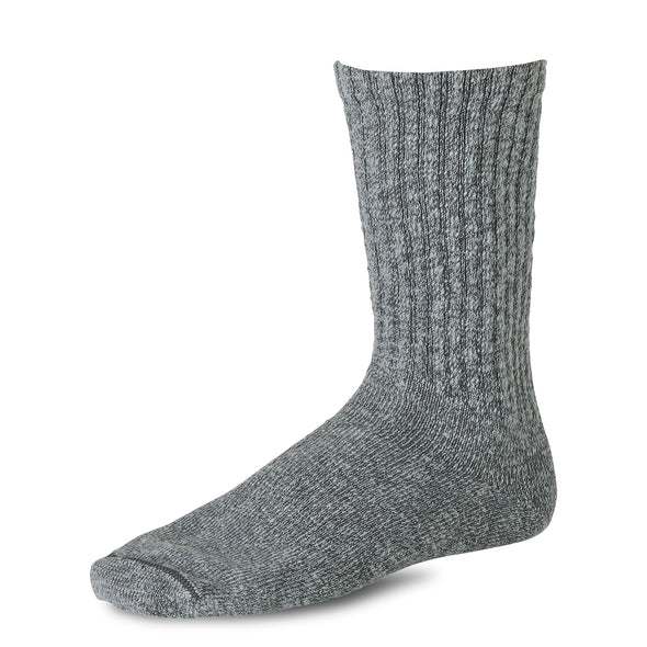 97373 Over Dyed Cotton Ragg Crew Sock Black/Grey