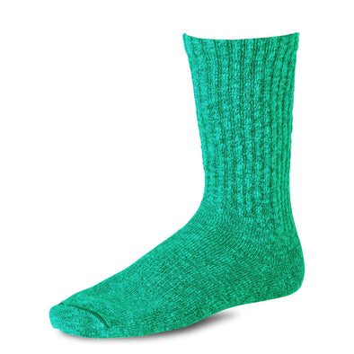 97372 Over Dyed Cotton Ragg Crew Sock Green/Light Green