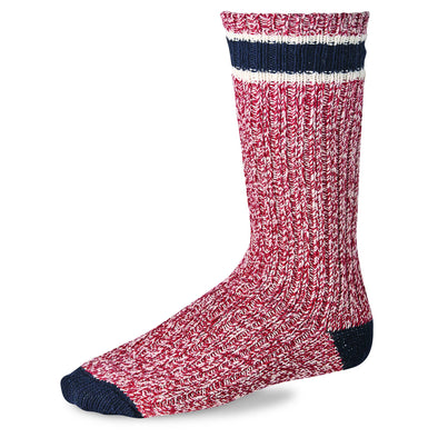 97331 Striped Wool Ragg Crew Red/Navy