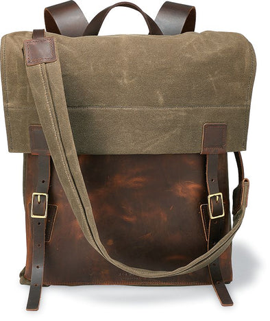 95068 Weekender Backpack Copper Rough & Tough Leather/Tan Waxed Canvas