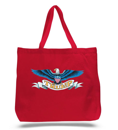 Trump Spread Eagle Red Tote