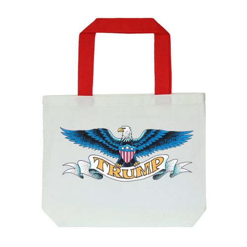 Trump Spread Eagle White Tote