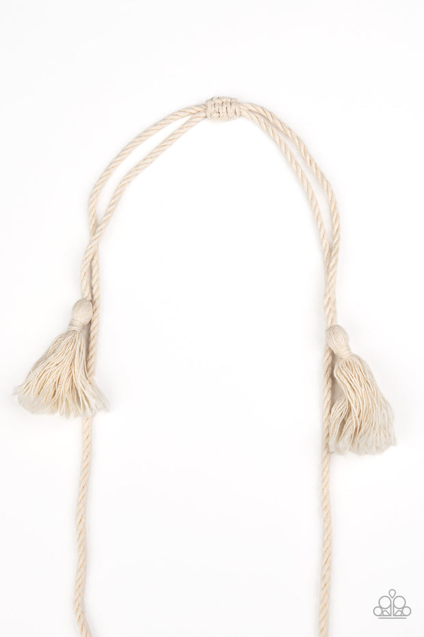 Macrame Mantra - White Necklace