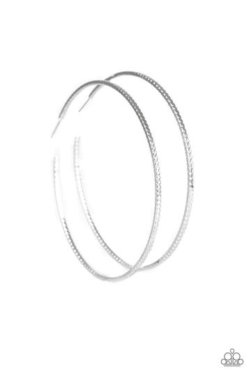 Paparazzi Shimmer Maker- Over Sized Silver Hoops