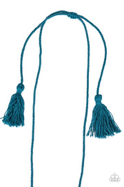 Between You and MACRAME - Blue Necklace