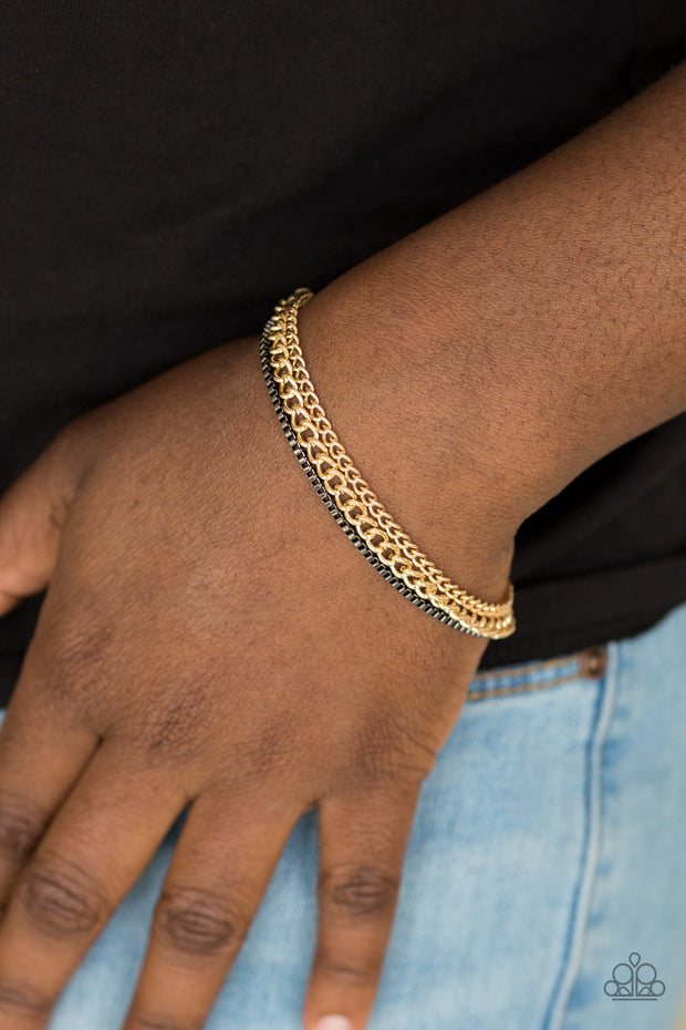Industrial Icon - Gold & Gunmetal Chain Bracelet