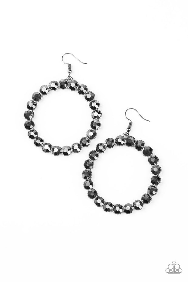 Welcome to the GLAM-boree - Gunmetal Rhinestone Earrings