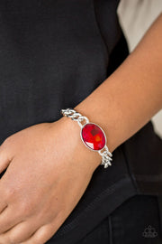 Luxury Lush - Red Rhinestone Bracelet