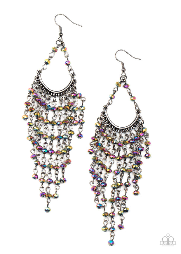 Metro Confetti - Oil Spill Rhinestone Earrings