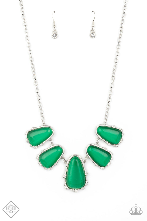 Newport Princess - Green Necklace