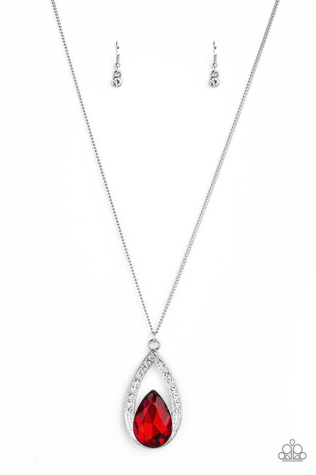 Notorious Noble - Red Rhinestone Necklace
