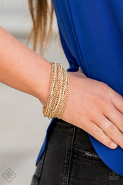 Pour Me Another - Gold Rhinestone Bracelet
