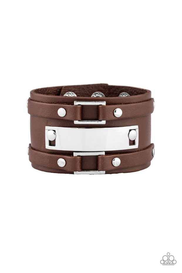 Rural Ranger - Brown Leather Unisex Bracelet