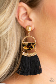Tassel Trot - Cheetah Earrings