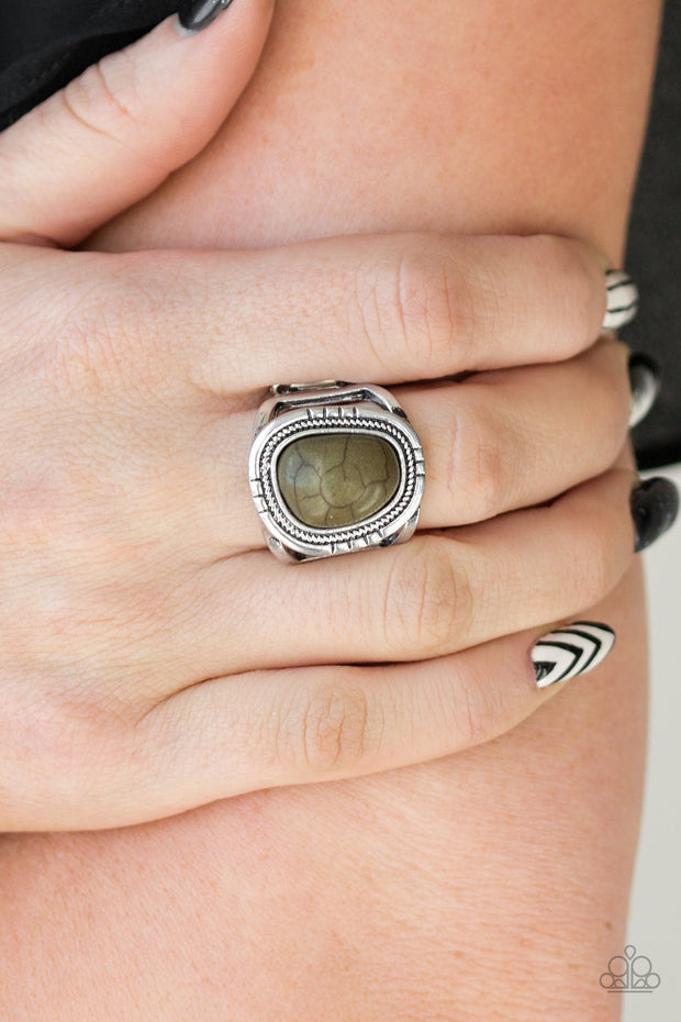 Paparazzi Out On The Range - Green Stone Ring