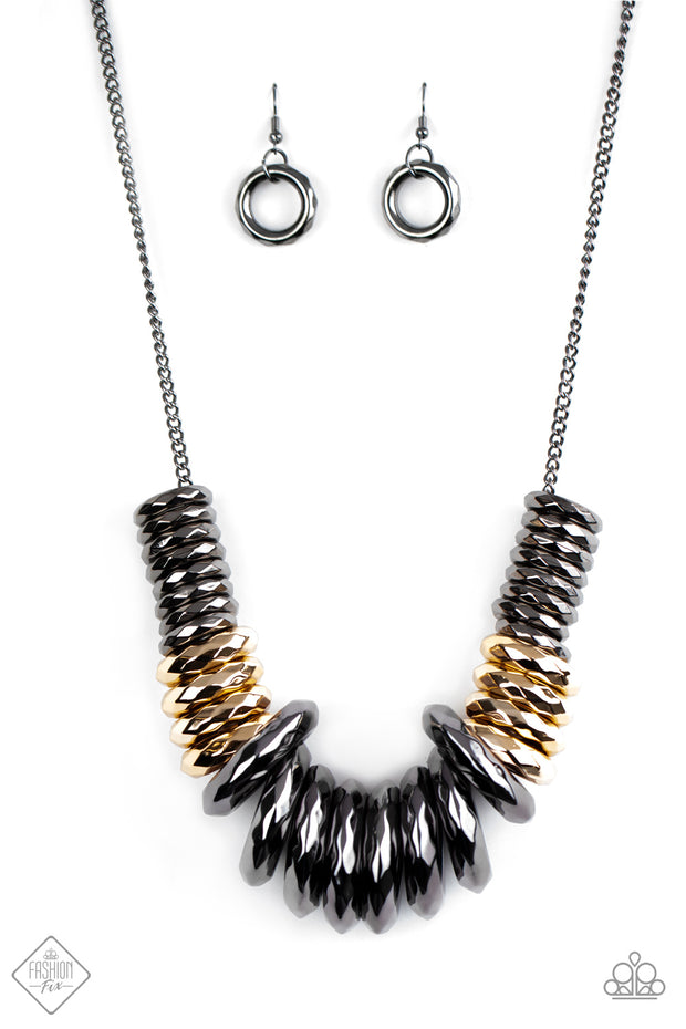 Gunmetal & Gold Necklace