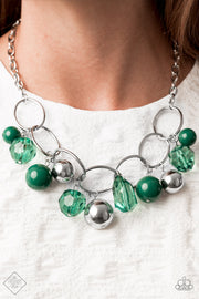 Paparazzi Cosmic Getaway - Green Crystal Necklace