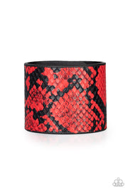 Hiss-Tory Red Snap Bracelet