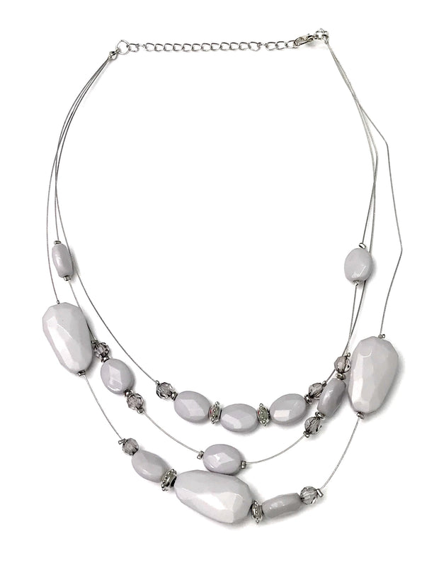 radiant reflections silver necklace paparazzi