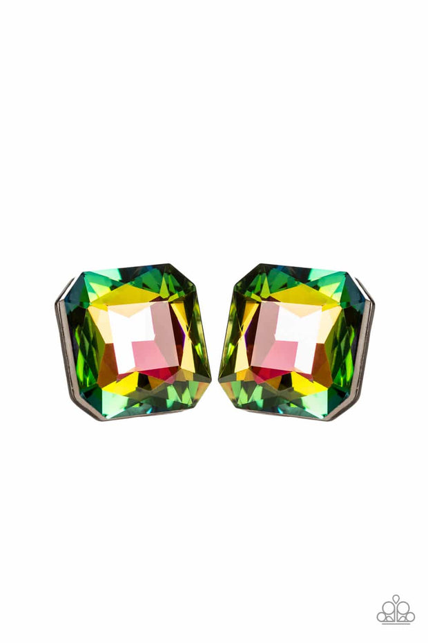 Show Glow Multi Colored Rhinestone Earrings