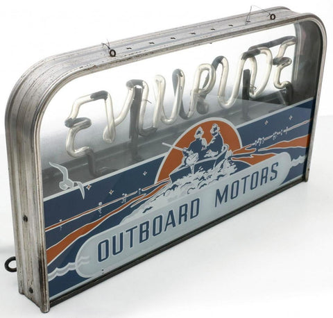 Evinrude Outboard Motors sign by Everbrite