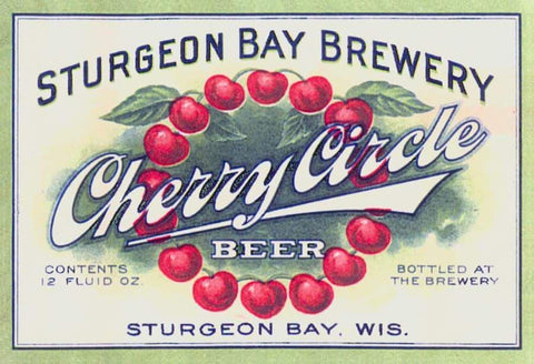 Sturgeon Bay Brewery Cherry Circle Beer Label