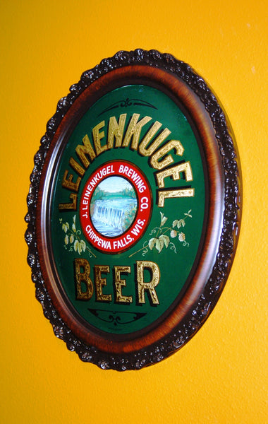 Contemporary Creation of Leinenkugel Beer Convex Shaped ROG Sign
