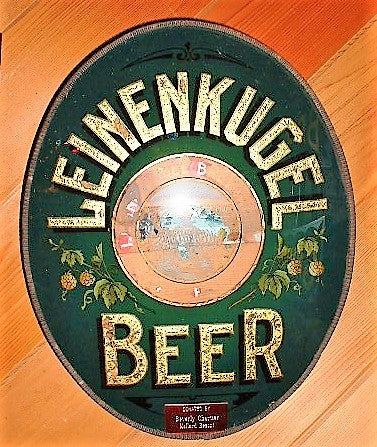 Leinenkugel Beer Reverse on Glass Concave Sign