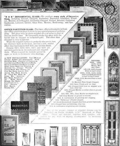 Rawson & Evans Chicago Oranmental Glass Works Product Catalog