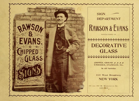 Raswon and Evans - Masters of Decorative Glass Signs