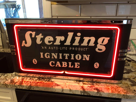 Sterling Ignition Cable Sign (After Neon Added)
