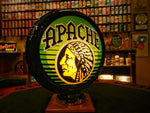 INAUGURAL GILLCO™ APACHE BEER PORCELAIN REVERSE ON GLASS (ROG) GLOBES