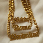 Load image into Gallery viewer, Custom Old English Name Necklace - Innysthebrand Jewellery
