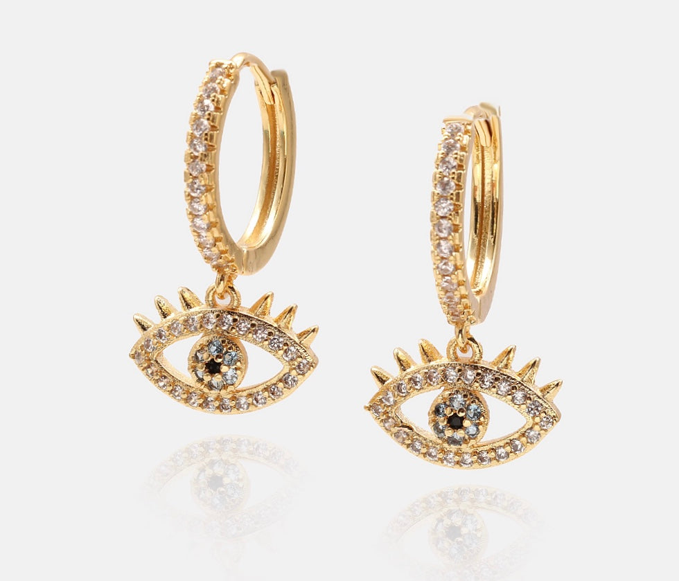 Evil Eye Huggies - Innysthebrand Jewellery
