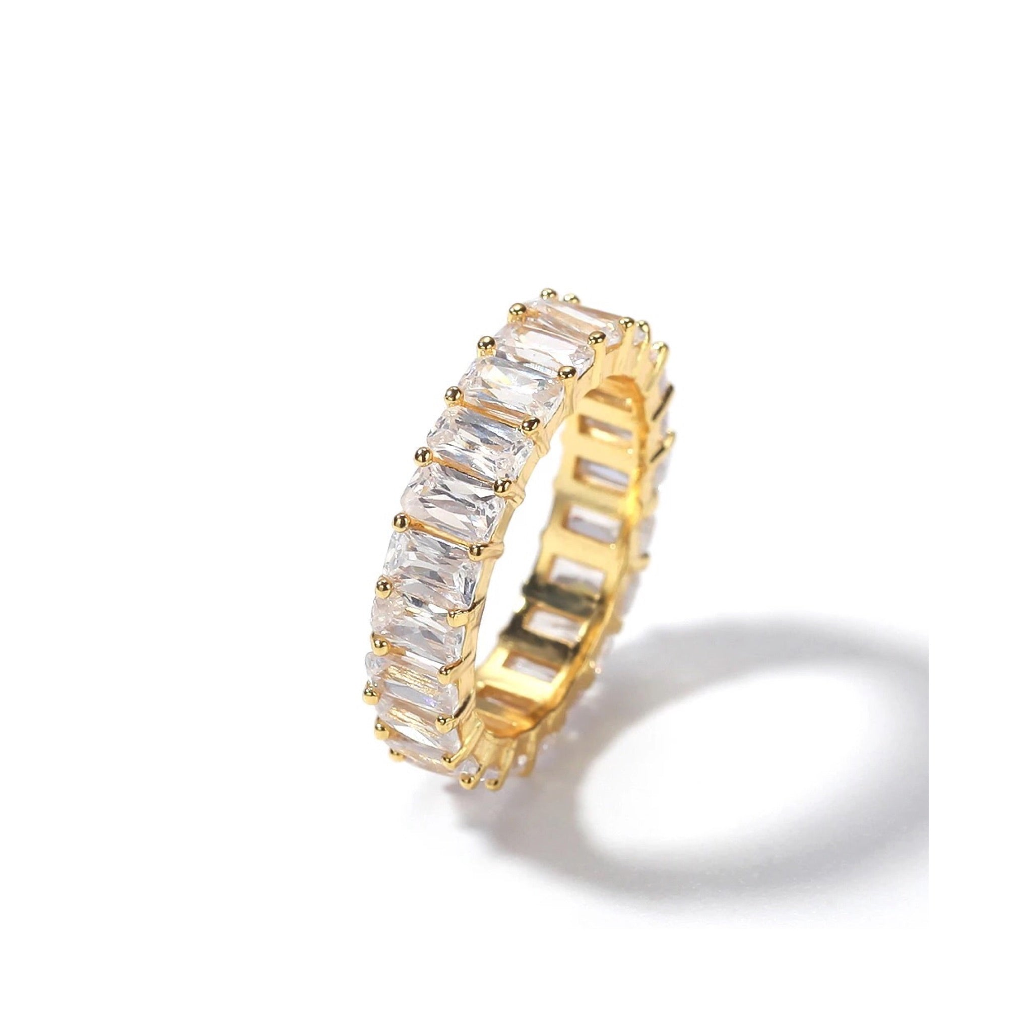 Baguette Sugar Bond Ring In Gold - Innysthebrand Jewellery