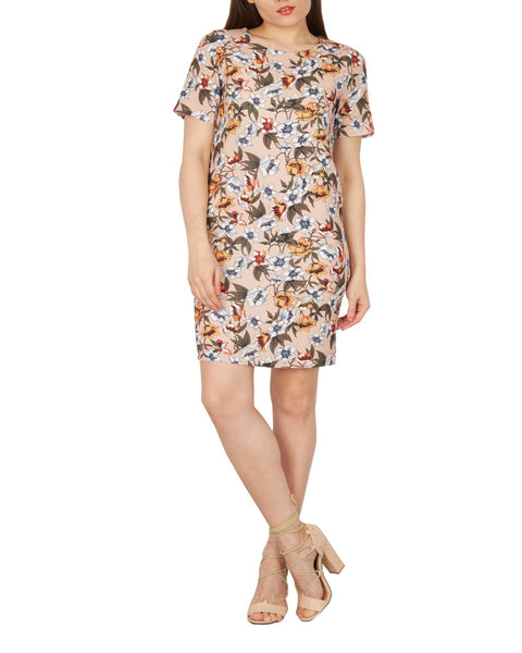 Vestito Nuovo Inglese Beige  a fiori varie misure New Casual Summer Floral dress - Shop in London