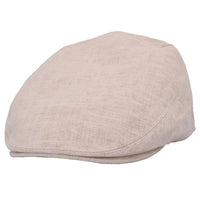 Coppola nuova inglese beige in lino Varie Misure Linen Cream English Flat Cap - Shop in London