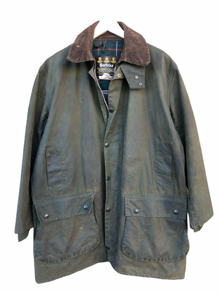 Barbour Giacca Uomo Verde Northumbria C42/107 CM Vintage Green Wax Jacket Medium - Shop in London