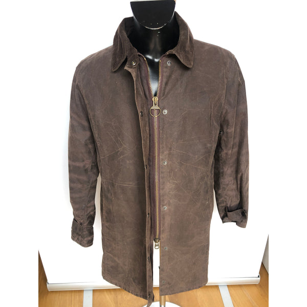 Giacca Barbour donna marrone modello Newmarket MAC UK 18 EU 46- Brown Wax Jacket - Shop in London