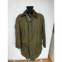 Giacca Barbour Uomo Border Verde Vintage Cerata C42/107 cm - Green wax jacket - Shop in London